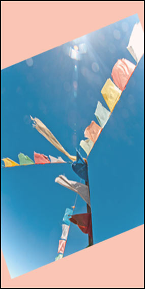 Prayer Flags in the Sunshine
